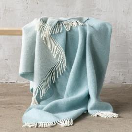Tæppe i merinould, stenblåt, Roberto