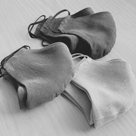 Ansigtsmaske af hør