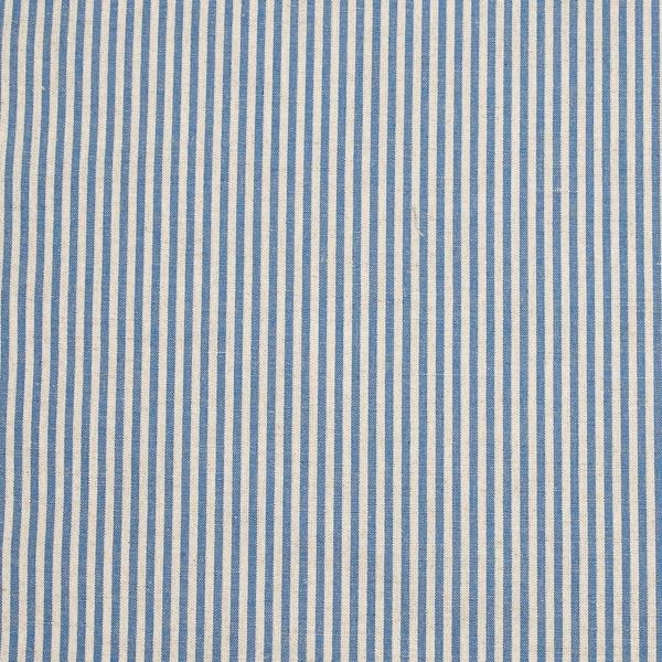 a4147f722dd Stof i hør og bomuld, blåt, stribet, Jazz - Hørstof - LinenMe