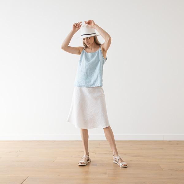Nederdel i hør, hvid, Alma Tøj LinenMe